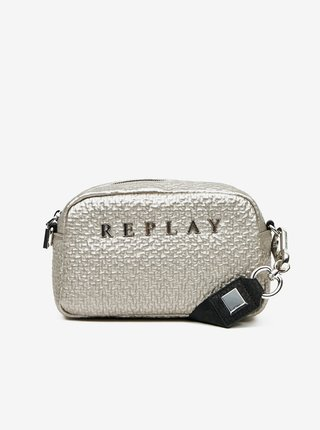 Stříbrná crossbody kabelka Replay