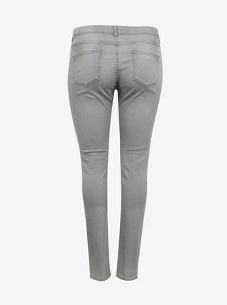 Světle šedé slim fit džíny CAMAIEU