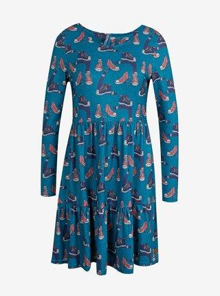 Modré dámske vzorované šaty Culito from Spain Eli