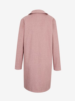 Svetloružový kabát Jacqueline de Yong