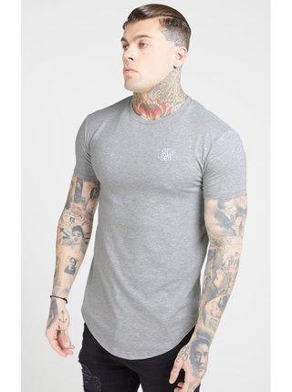Světle šedé pánské tričko – Tee Gym Core S/S SikSilk