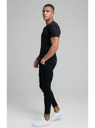 Černé pánské tričko TEE GYM KNIT RIB FINE S/S