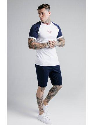 Modro-bílé pánské tričko  TEE TECH RAGLAN