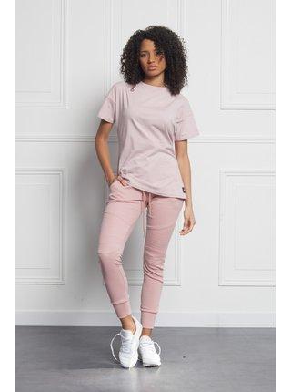 Růžové dámské tričko Oversized Classic June Sixth