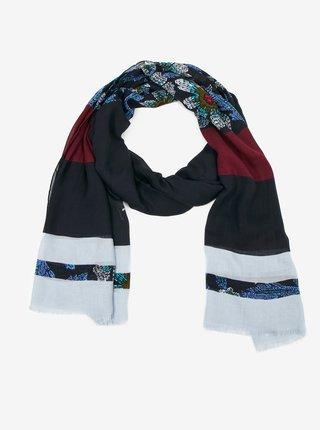 Tmavě modrý dámský pruhovaný šátek Tommy Hilfiger