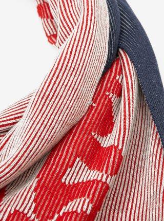 Modro-červená dámská šála Tommy Hilfiger