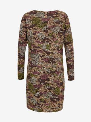 Hnědé dámské vzorované šaty SKFK