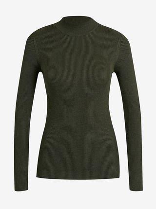 Tmavě zelený žebrovaný svetr Jacqueline de Yong New Maryan