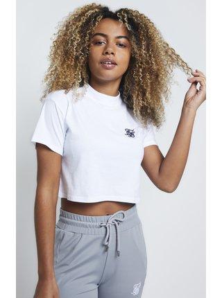 Bílé dámské crop top tričko TEE CROP FIT BOX RETRO