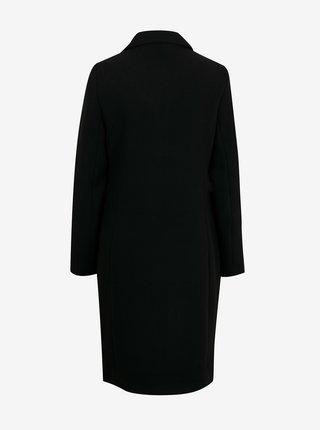 Čierny kabát s prímesou vlny VERO MODA Blast