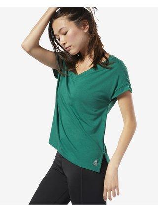 Tričká s krátkym rukávom pre ženy Reebok - zelená