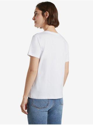 Bílé dámské tričko s nápisem Desigual Desiguales Y Juntos