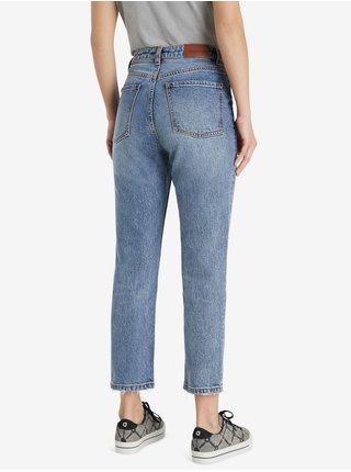 Modré dámské zkrácené džíny Desigual Denim Scarf