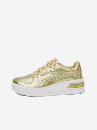 Zlaté dámské sportovní boty Puma