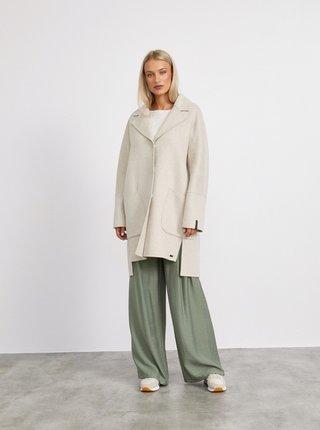 Béžový dámský kabát s příměsí vlny METROOPOLIS Kandis