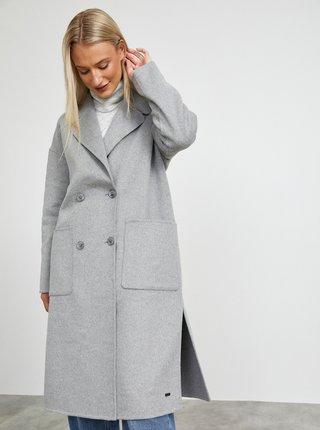 Šedý dámský kabát s příměsí vlny METROOPOLIS Kalita