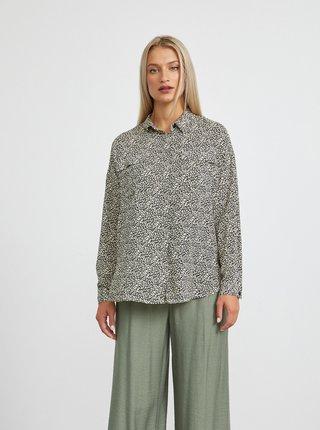 Černo-krémová dámská vzorovaná volná košile METROOPOLIS Ingrid