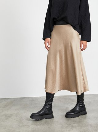 Béžová maxi sukňa METROOPOLIS Olympie