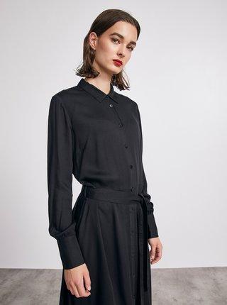 Černé košilové midišaty METROOPOLIS Sharon