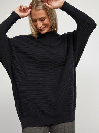 Čierny dámsky voľný sveter METROOPOLIS Jiliana