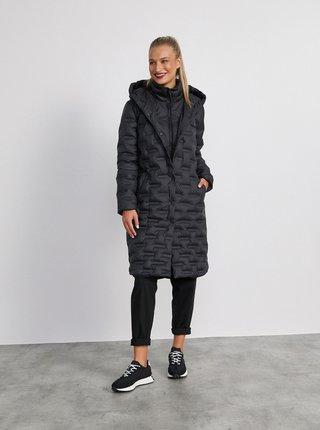 Čierny dámsky páperový zimný kabát METROOPOLIS Roxy