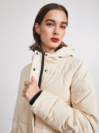 Krémová dámska prešívaná bunda METROOPOLIS Catherine