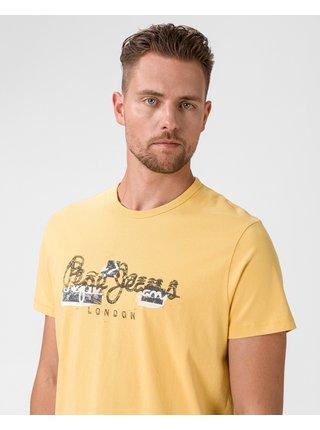 Tričká s krátkym rukávom pre ženy Pepe Jeans - žltá