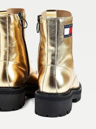 Zlaté dámské kotníkové boty Tommy Hilfiger