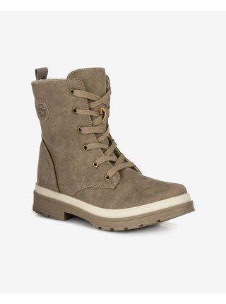 Béžové dámské kotníkové zimní boty Loap Sangri