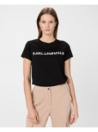 Graffiti Logo Triko Karl Lagerfeld