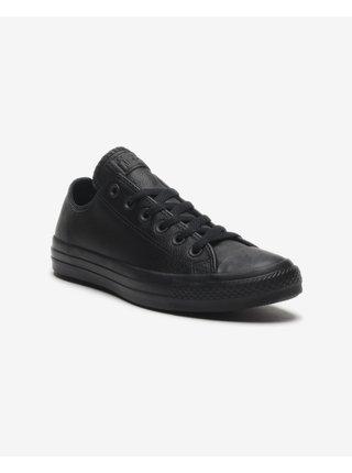 Černé unisex kožené tenisky Converse Chuck Taylor All Star Tonal Leather