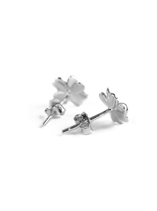Stříbrné dámské náušnice ve tvaru čtyřlístků VUCH Amuse Silver