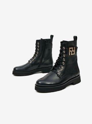 Čierne dámske kožené členkové topánky Högl Warrior