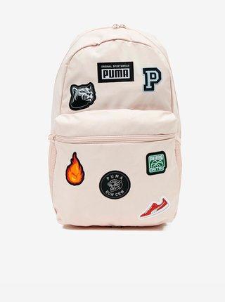 Svetloružový dámsky batoh s nášivkami Puma