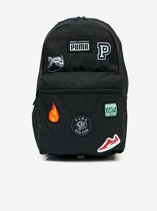 Černý pánský batoh s nášivkami Puma