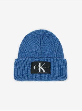 Čiapky, šály, rukavice pre mužov Calvin Klein - modrá