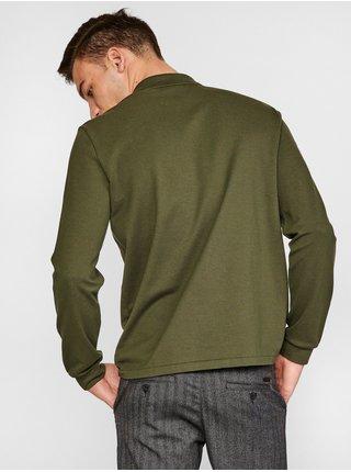 Zelená pánska polokošeľa s dlhým rukávom Lacoste