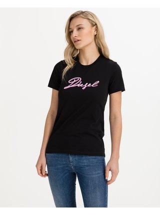 Tričká s krátkym rukávom pre ženy Diesel - čierna