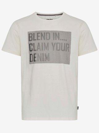 Biele tričko s potlačou Blend
