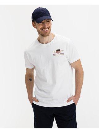 Tričká s krátkym rukávom pre ženy GANT - biela