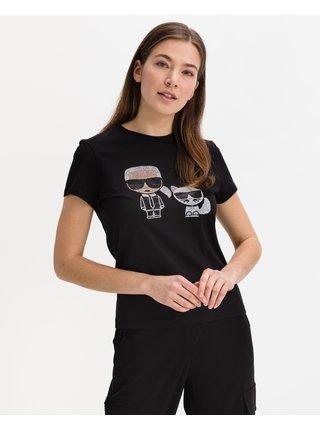 Tričká s krátkym rukávom pre ženy KARL LAGERFELD - čierna