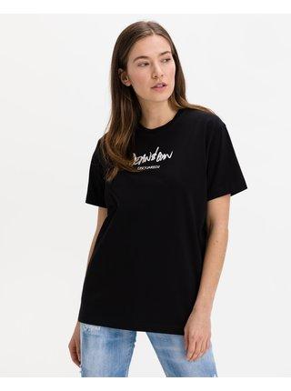 Tričká s krátkym rukávom pre ženy DSQUARED2 - čierna