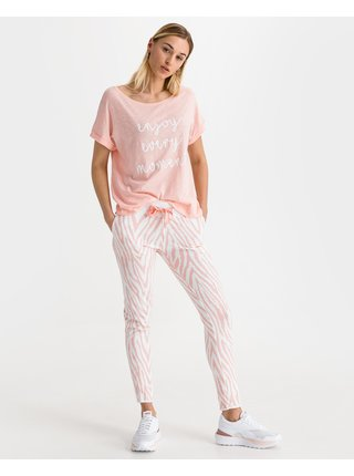 Tepláky pre ženy JUVIA - ružová, biela