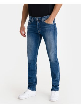 Straight fit pre mužov Replay - modrá