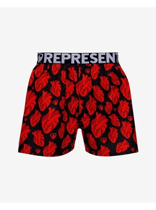 Trenírky pre mužov Represent - čierna, červená