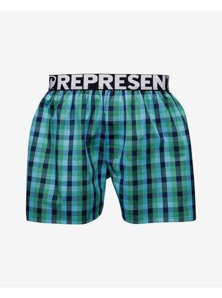 Trenírky pre mužov Represent - modrá, zelená