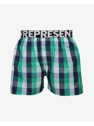 Trenírky pre mužov Represent - čierna, zelená, biela
