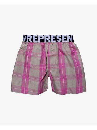 Trenírky pre mužov Represent - ružová, béžová