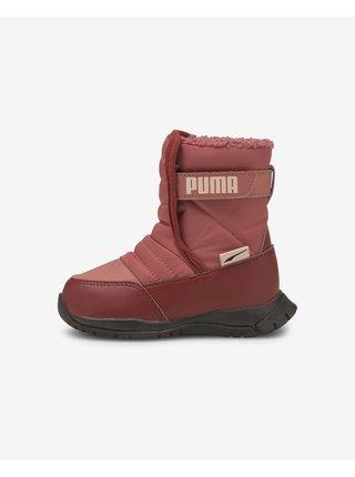 Červené holčičí sněhule Puma Nieve Boot WTR