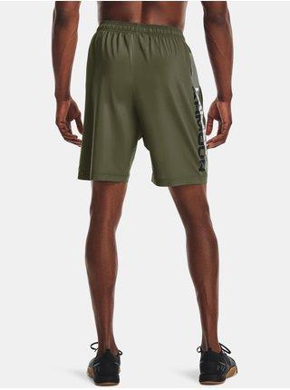 Kraťasy Under Armour Woven Wordmark Shorts- zelená
